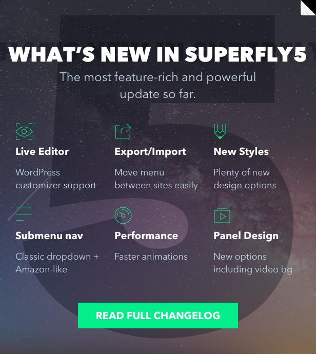افزونه منوی رسپانسیو وردپرس Superfly